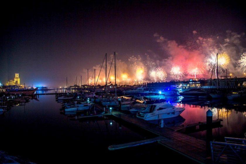 """""""مرسى ونادي الحمرا لليخوت""""وجهتكم الرائعة لمشاهدة عروض الألعاب النارية واستقبال العام الجديد"""