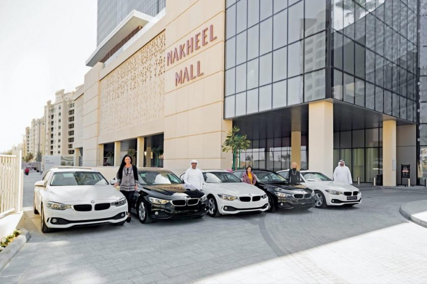 brand new BMWs for five lucky customers at Nakheel Mall