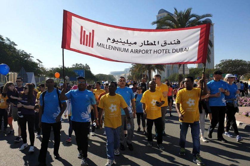 """فندق ميلينيوم المطار دبي يدعم""""مسيرة دبي العطاء من أجل التعليم"""""""