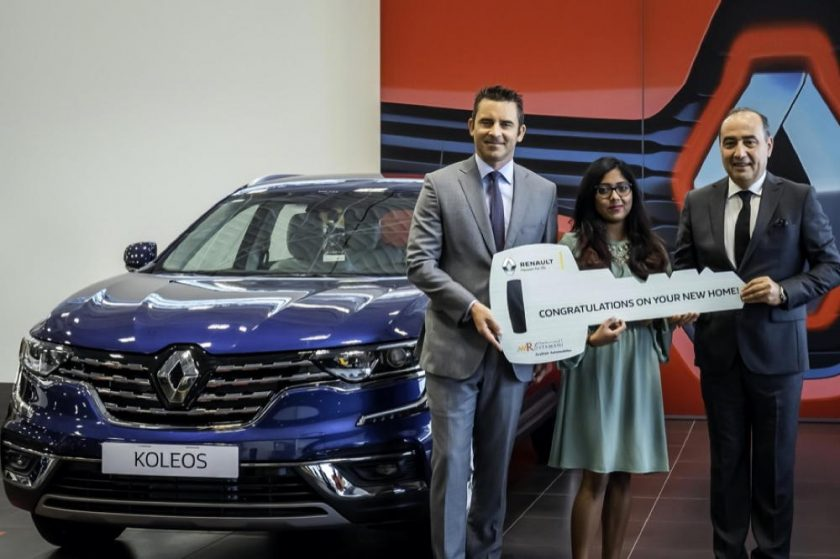 Renault of Arabian Automobiles revealslucky winner of brand-new home