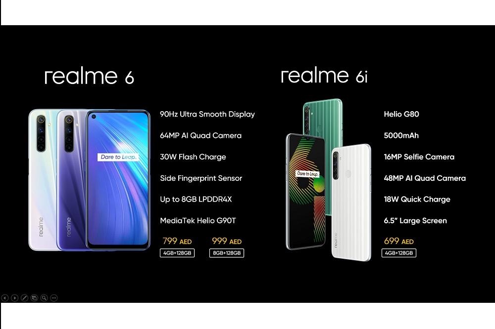 ريلمي تطلق الجهازين الجديدين كليًّا ريلمي 6 و6i