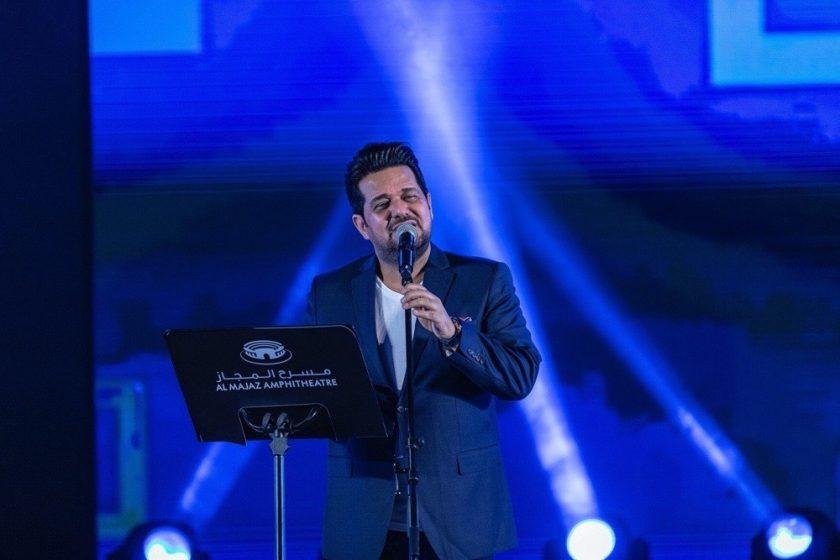 Hatem Al Iraqi's live performance in Al Majaz Amphitheatre