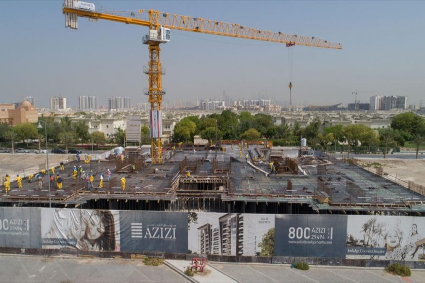 Berton in Al Furjan reaches 21% construction milestone