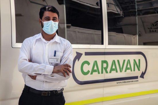كرفان توفر خدمات النقل المشترك بالحافلات
