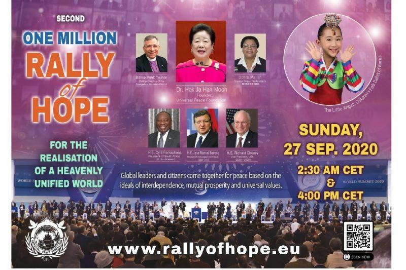 اتحاد السلام العالمي يعقد تجمّع الأمل بنسخته الثانية على الإنترنت
