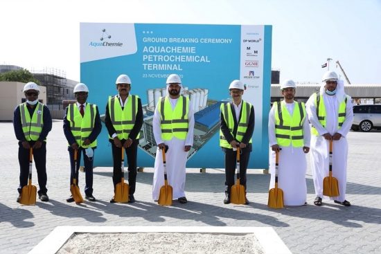 AquaChemie breaks ground on  M Petrochemical terminal