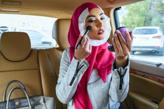 Master the art of in-transit festive makeup without staining your hijab