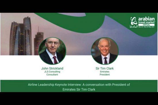 السير تيم كلارك يعلن انطلاق النسخة الافتراضية من معرض سوق السفر العربي