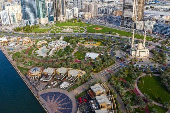Sharjah's iconic leisure destination, Al Majaz Waterfront,