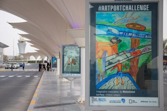 #ARTPORTCHALLENGE Amateur and professional artists bring light and colors to Abu Dhabi International Airport