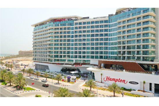 مرجان تُرحّب بمشروعٍ فندقي جديد بقيمة 450 مليون درهم إماراتي: افتتح أكبر فنادق هامبتون باي هيلتون في العالم أبوابه أمام النزلاء في جزيرة المرجان