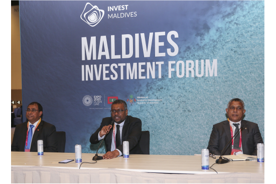 Maldives Investment Forum graced by the President of Maldives, H.E. Ibrahim Mohamed Solih held at Expo 2020 Dubai